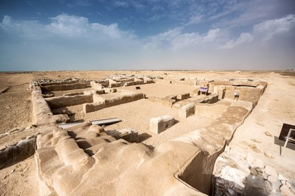 A view of the archaeological remains at the Al Zubarah heritage site