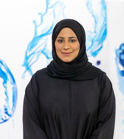 Qatari artist and Curator of 'What If?' exhibition, Muna Al-Bader.
