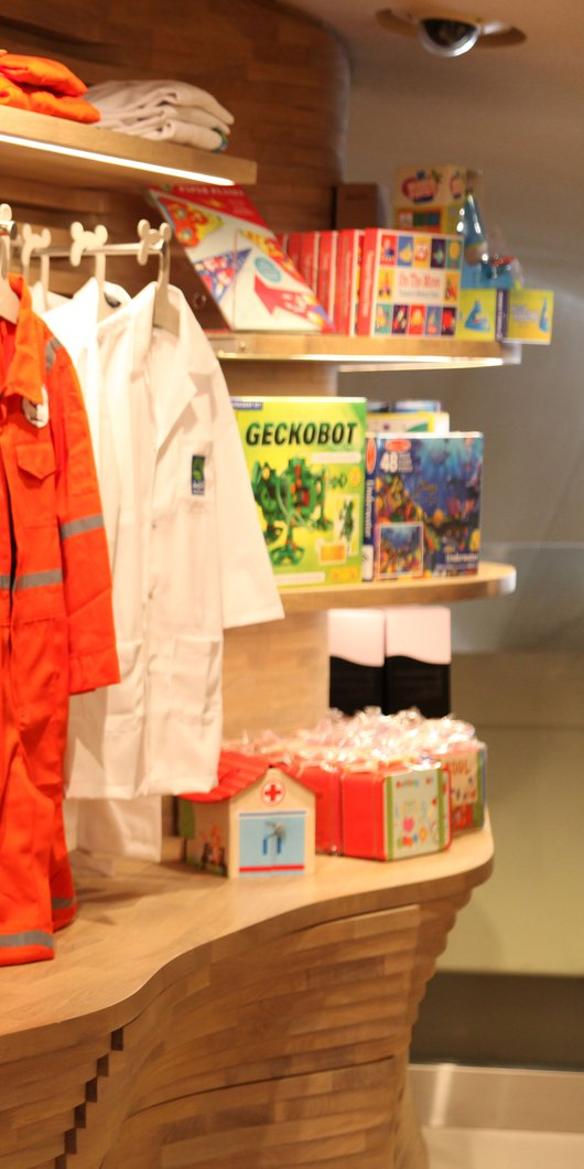 Products on display in the NMoQ's children's gift shop