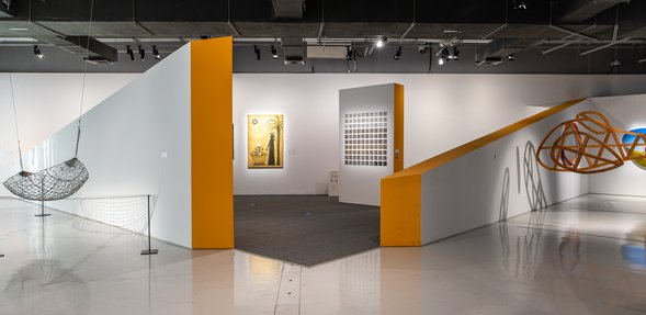 Interior view of a temporary exhibition at the Garage Gallery